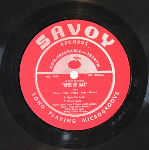 "Milt Jackson & Frank Wess - ""Opus De Jazz"" - Label - Vinyl LP"