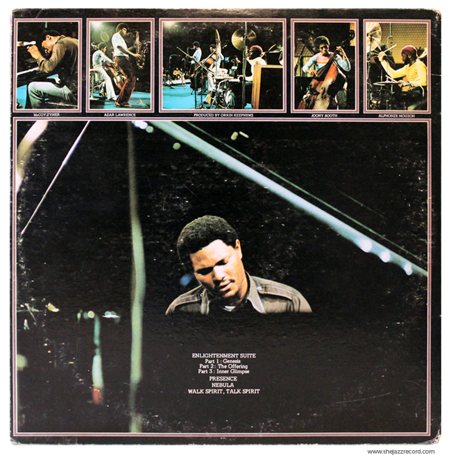 McCoy Tyner - Enlightenment - Back COver VinyL lP