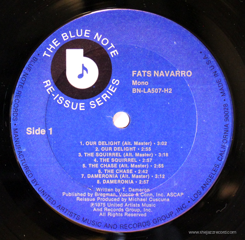 Fats Navarro - Prime Source - LAbel - Vinyl LP
