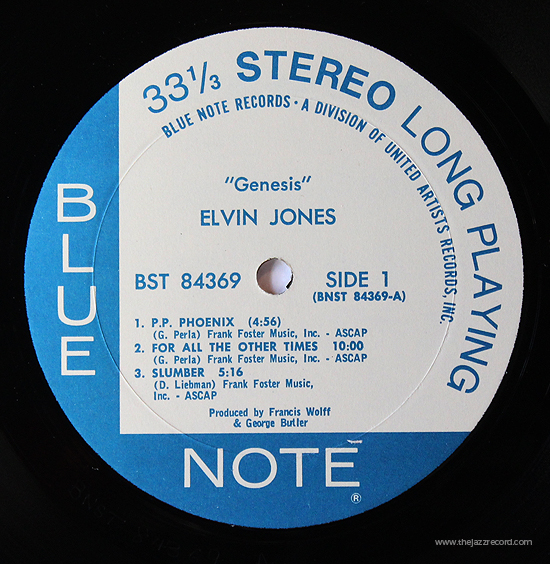 Elvin Jones - Genesis - Label - Vinyl LP