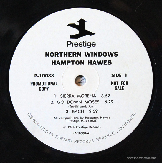 Hampton Hawes - Northern Windows - Label Vinyl