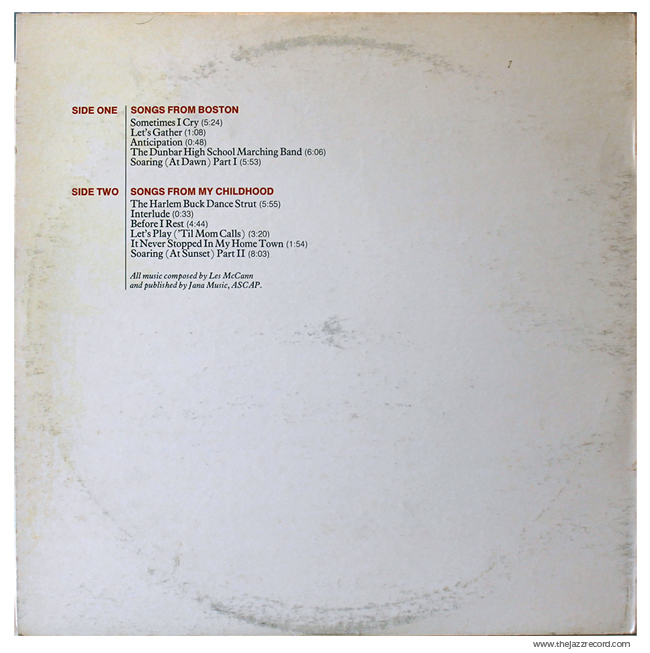 Les Mccann - Layers - Vinyl Back Cover
