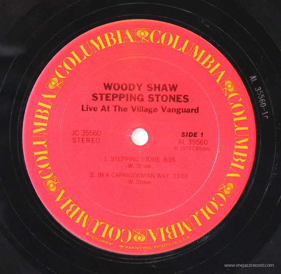 Woody Shaw - Stepping Stones - Vinyl Label