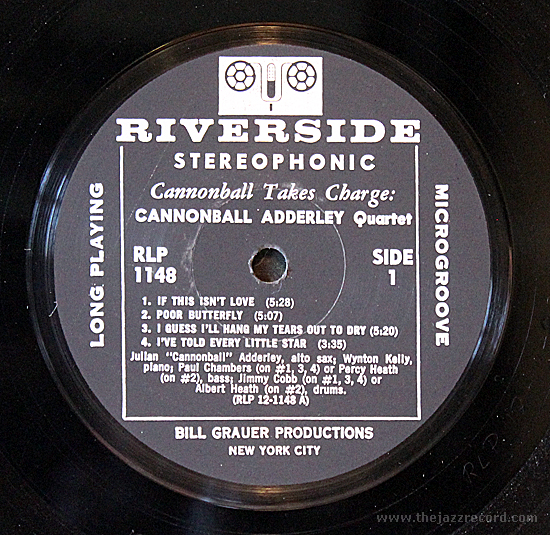 Cannonball Takes Charge - Riverside Label