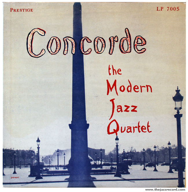 The Modern Jazz Quartet - Concorde - Vinyl Front Cover