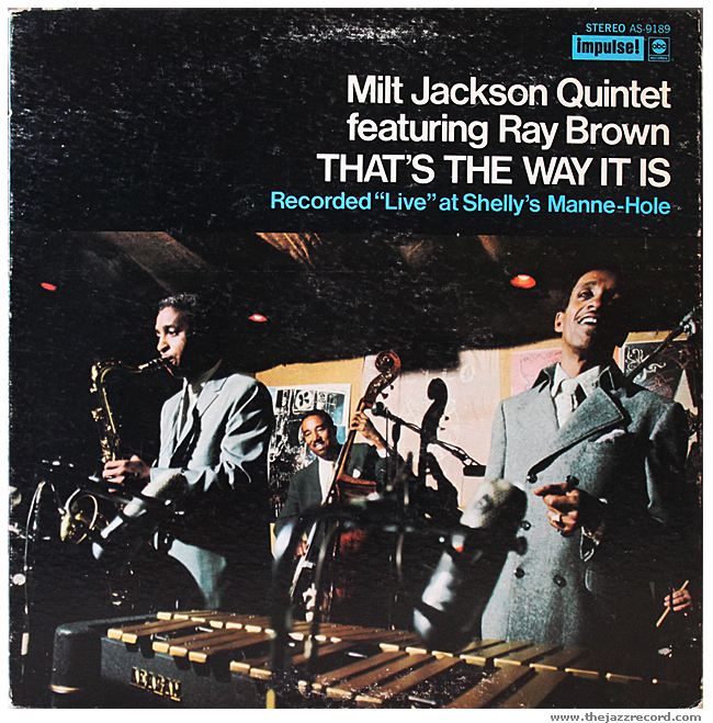 Milt Jackson Quintet featuring Ray Brown - That's The Way It Is - Front Cover - Vinyl