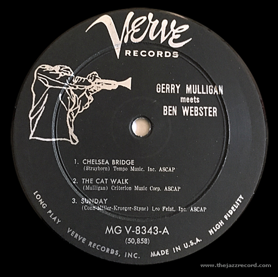 Gerry Mulligan Meets Ben Webster - Label Vinyl LP