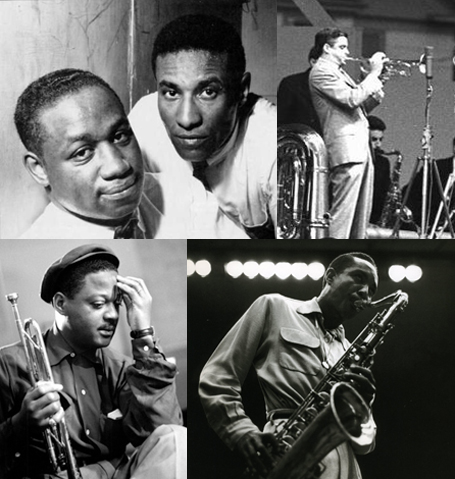 Clockwise From Top Left: Clifford Brown & Max Roach, Maynard Ferguson, Clark Terry and Harold Land