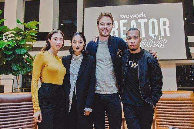 Big thanks to @wework for having us be a part of such a great event last night! Fun panel about the entrepreneurial journey featuring @lydia_pang_ Creative Director at @refinery29, @daquanoliver Founder & CEO of @wethrive_ , Nick Brown Founder & CEO of @soludos And our Co-founder & Creative Director @torideetz. Good luck to those applying to the #creatorawards!