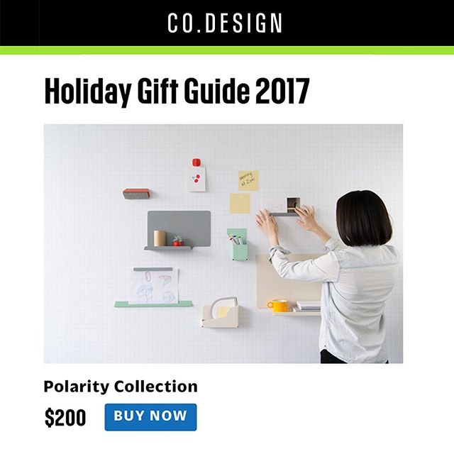 ✨ Our Polarity collection made the @fastcodesign gift guide! 🎁 / link in bio for more info on taking your workspace to the next level💥