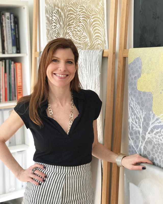We had the pleasure of visiting @jillmalek at her studio today. Inspiring to see where the magic happens! #textiledesign #jillmalek #wallcoverings #wallpaper #interiors #textiledesigner #newyorkcity