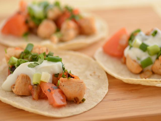 Chicken Tacos from the meal planning menu