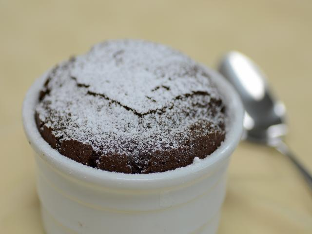 Bittersweet Chocolate Soufflé from the meal planning menu