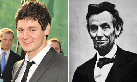 Meet Benjamin Walker (soon to be a Streep son-in-law).   First he was Bloody Bloody Andrew Jackson, now he's Abraham Lincoln: Vampire Hunter. Can't wait to see how he tackles Obama.   (Source:  guardian.co.uk )
