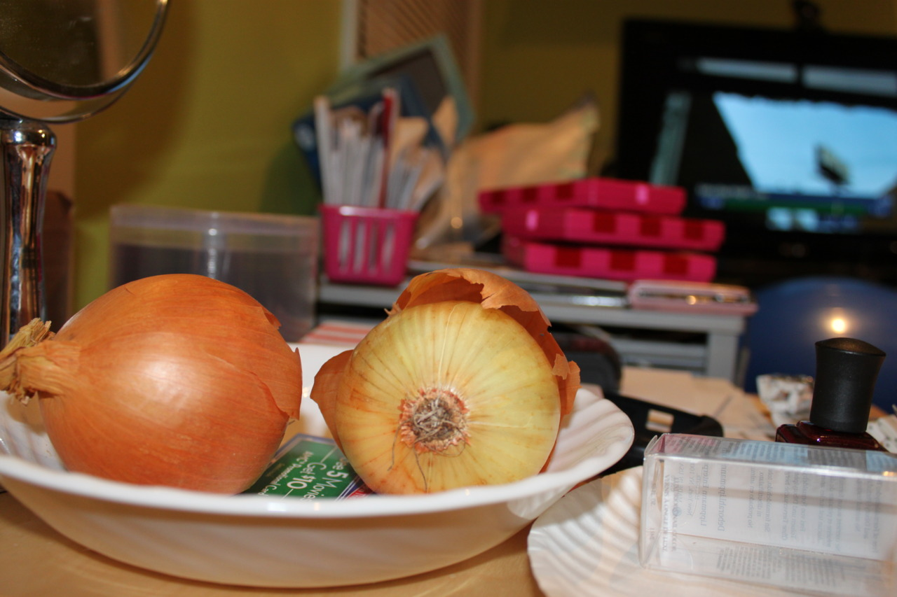 Certain things just don't belong on a bedside table. Principally, onions.