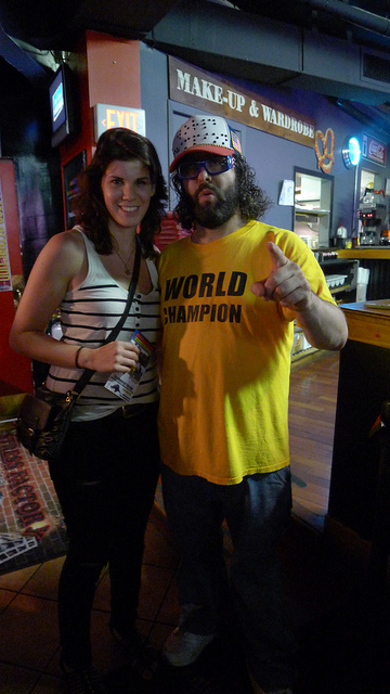 With the World Champion, Judah Friedlander    Caught Judah Friedlander at the Stress Factory over the weekend. I'm now one degree closer to  wearing Tina Fey's skin  meeting Tina Fey.