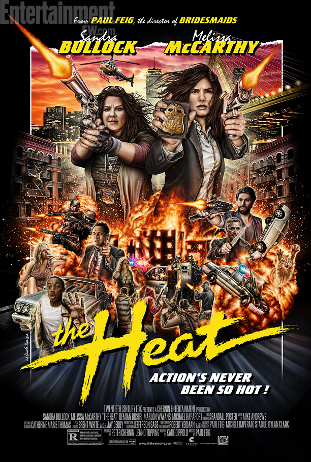 popculturebrain :     Poster; ' The Heat ' gets the Mondo treatment |  EW      Major lady-boner — talk about a summer tentpole.