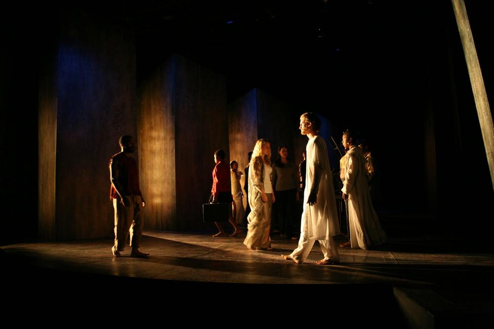 The Last Days of Judas Iscariot. Connecticut Repertory Theatre. Lighting design.