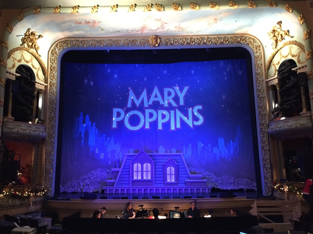 Mary Poppins, the Musical. Portsmouth Music Hall. Projection design.