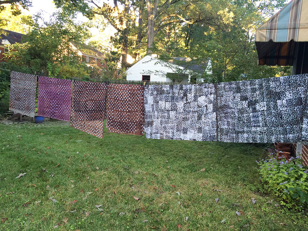 The clothesline as I left for work.