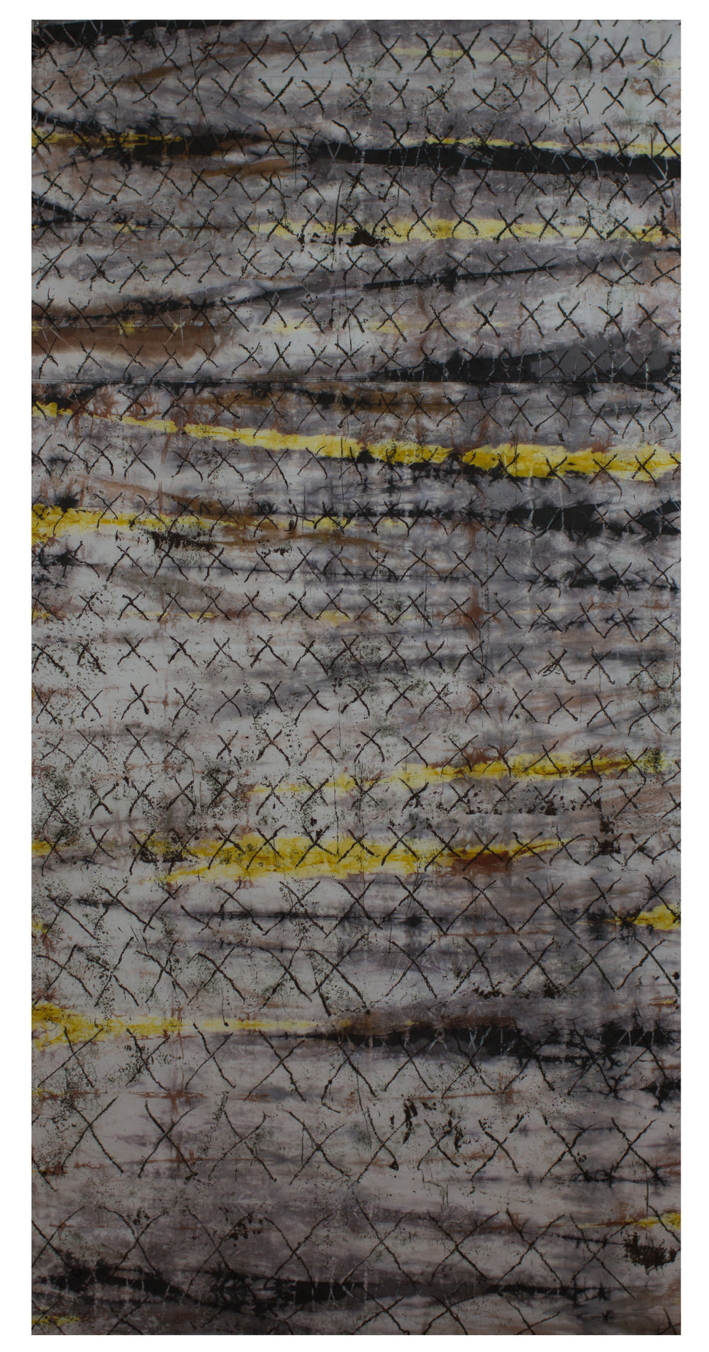 """Illumination: Counting"" Hand dyed art cloth  Russ Little, 2013"
