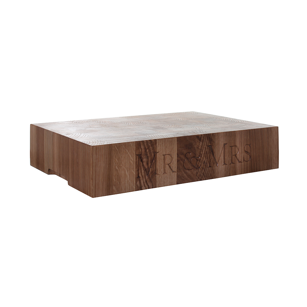 Butcher's Block   Made from end-grain oak, this wonderful, sturdy chopping block makes a statement in any kitchen.  h. 100mm l. 400mm w. 300mm*  £120