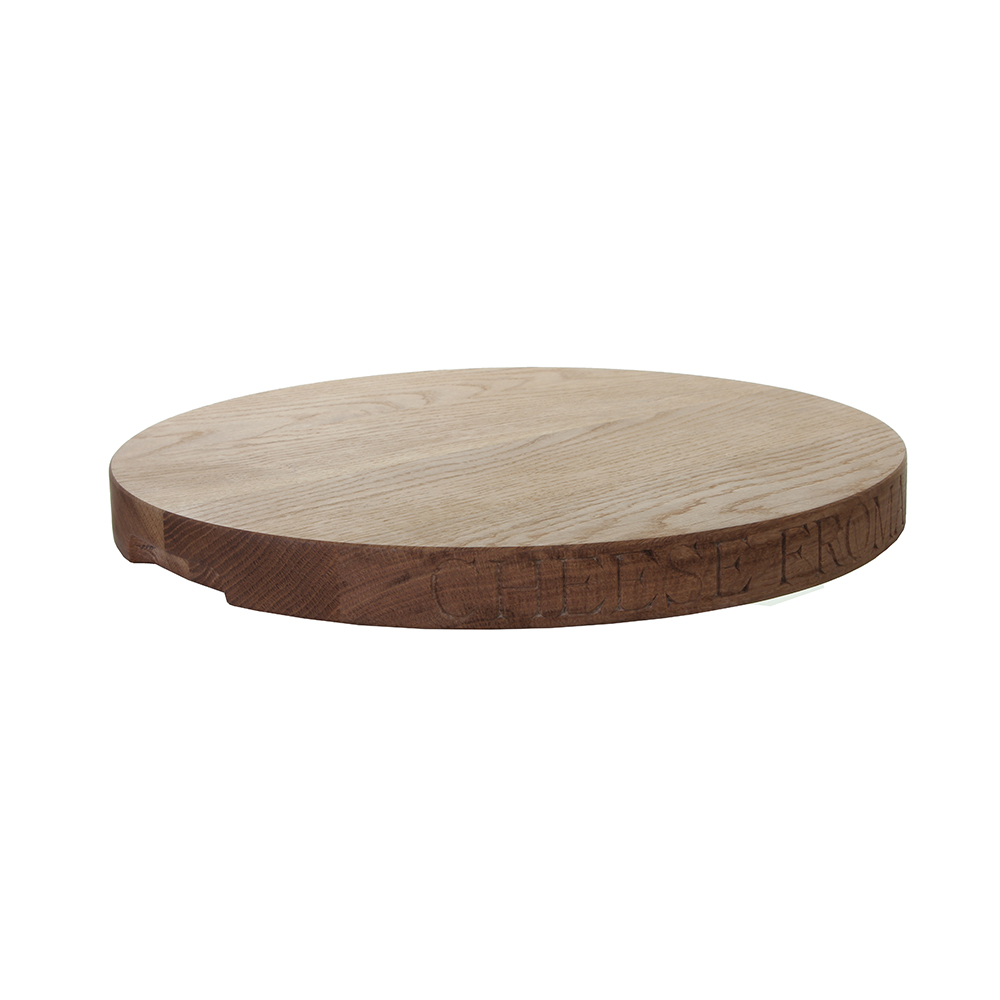 Cheese Board   Our Frome Cheese Festival celebrity, this oak cheese board is a gorgeous host for the blues, creams, cheddars and all!  dia. 380mm*  £75
