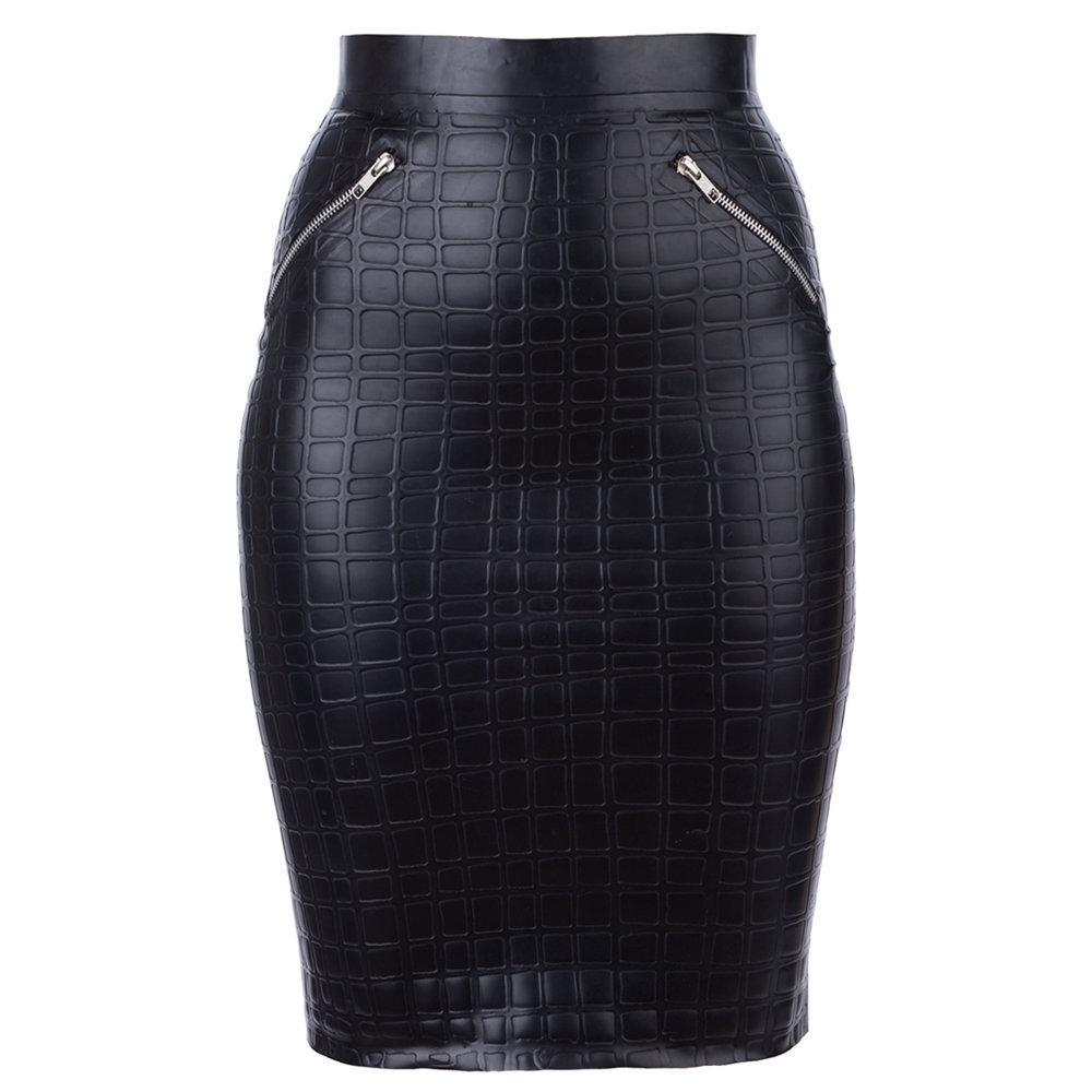 Croc look skirt