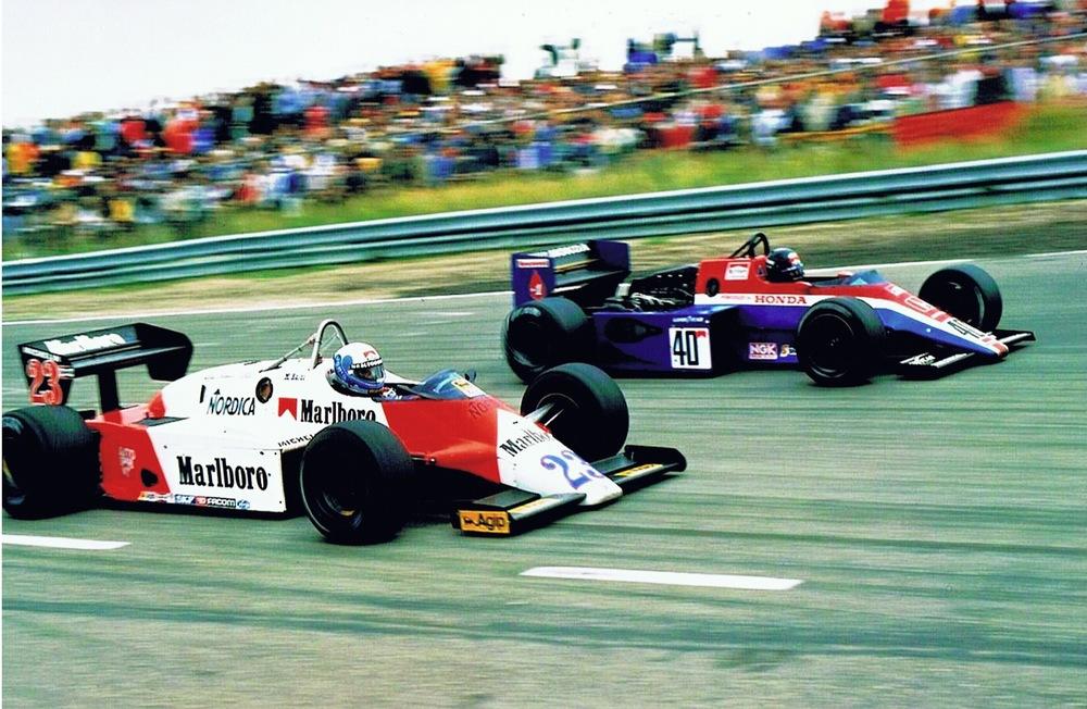 stefan Johansson Spirit Honda F1, Mauro Baldi Alfa Romeo F1 Dutch GP 1983.jpg