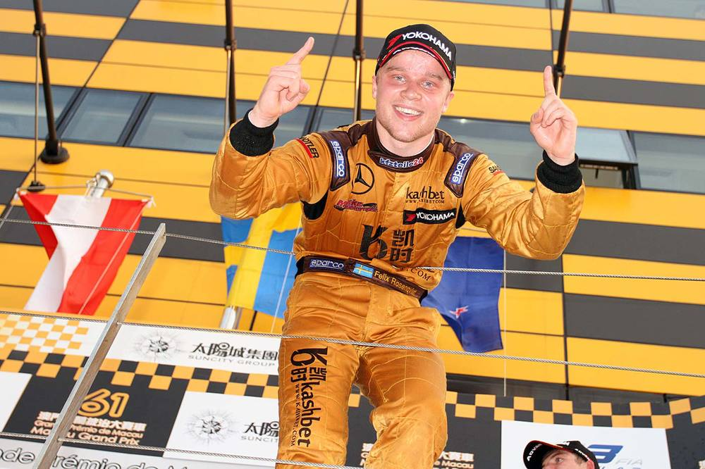 Felix Rosenqvist - Macau GP Podium - 2014
