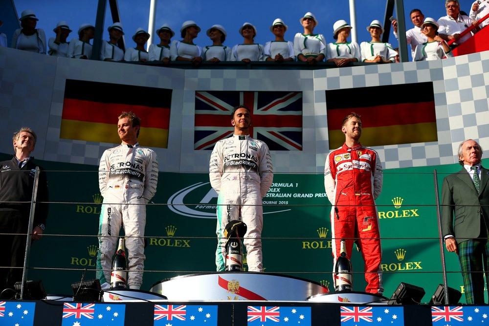 Australian GP Podium (2015)