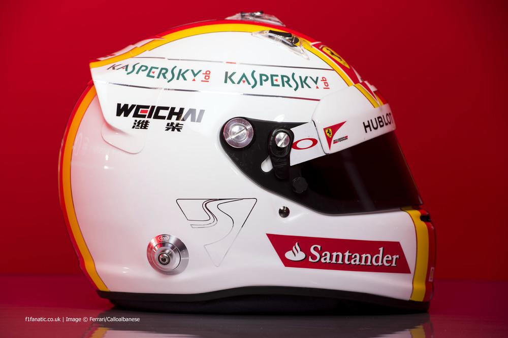 Vettel Ferrari Helmet 2015