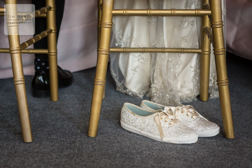 Having a pair of cute sparkly reception shoes is always a good idea!