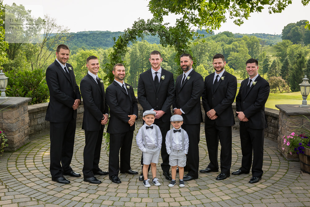 Patrick and his groomsmen all suited up.