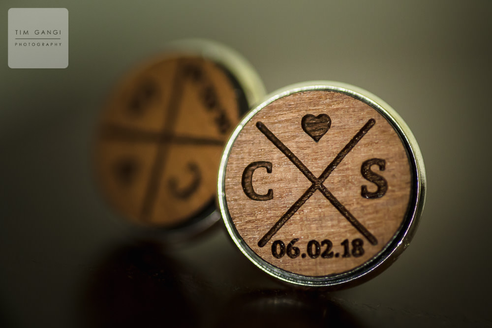 Customized cuff links are a great way to make a small detail much more special.