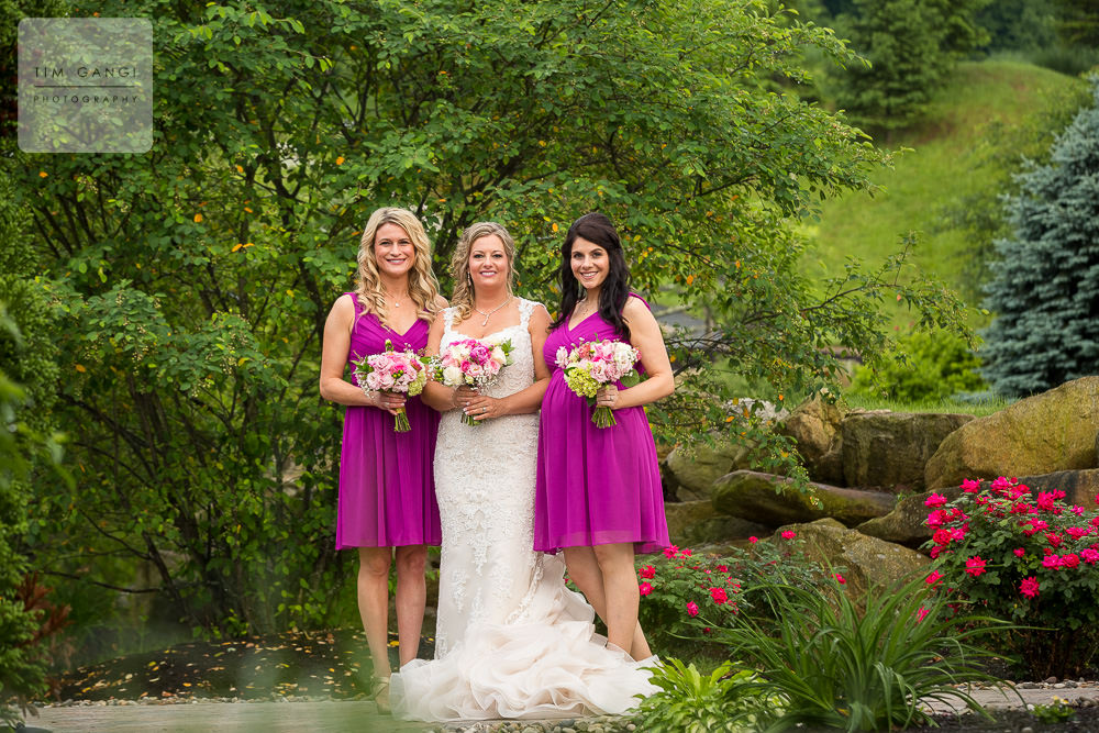 These raspberry bridesmaids dresses are the perfect pop of color!