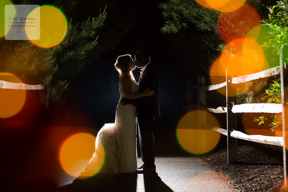 What better way to close the day then with an epic night shot! A big congrats to Sherri + Collins on their big day!