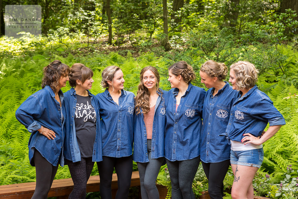 The embroidered denim shirts are the perfect personalized wedding gifts!