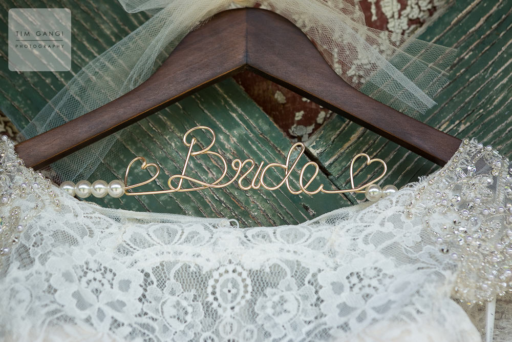 Decorative bridal hangers are such a nice touch.