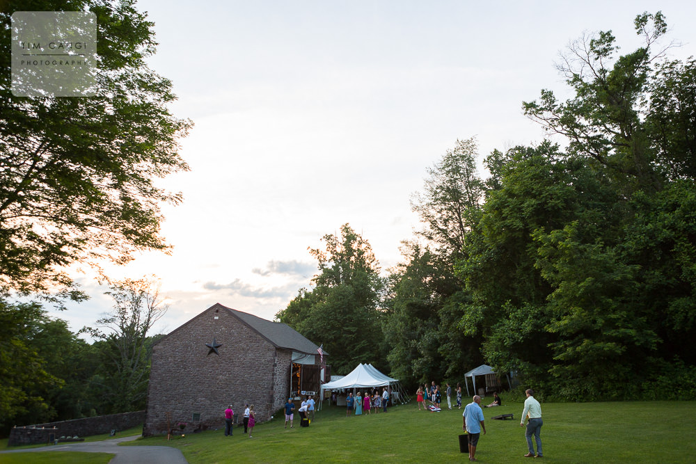 As the sun begins to set on an amazing evening, the party moves inside.