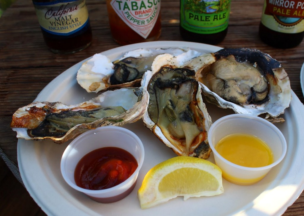 Bolinas Bay BBQ oysters