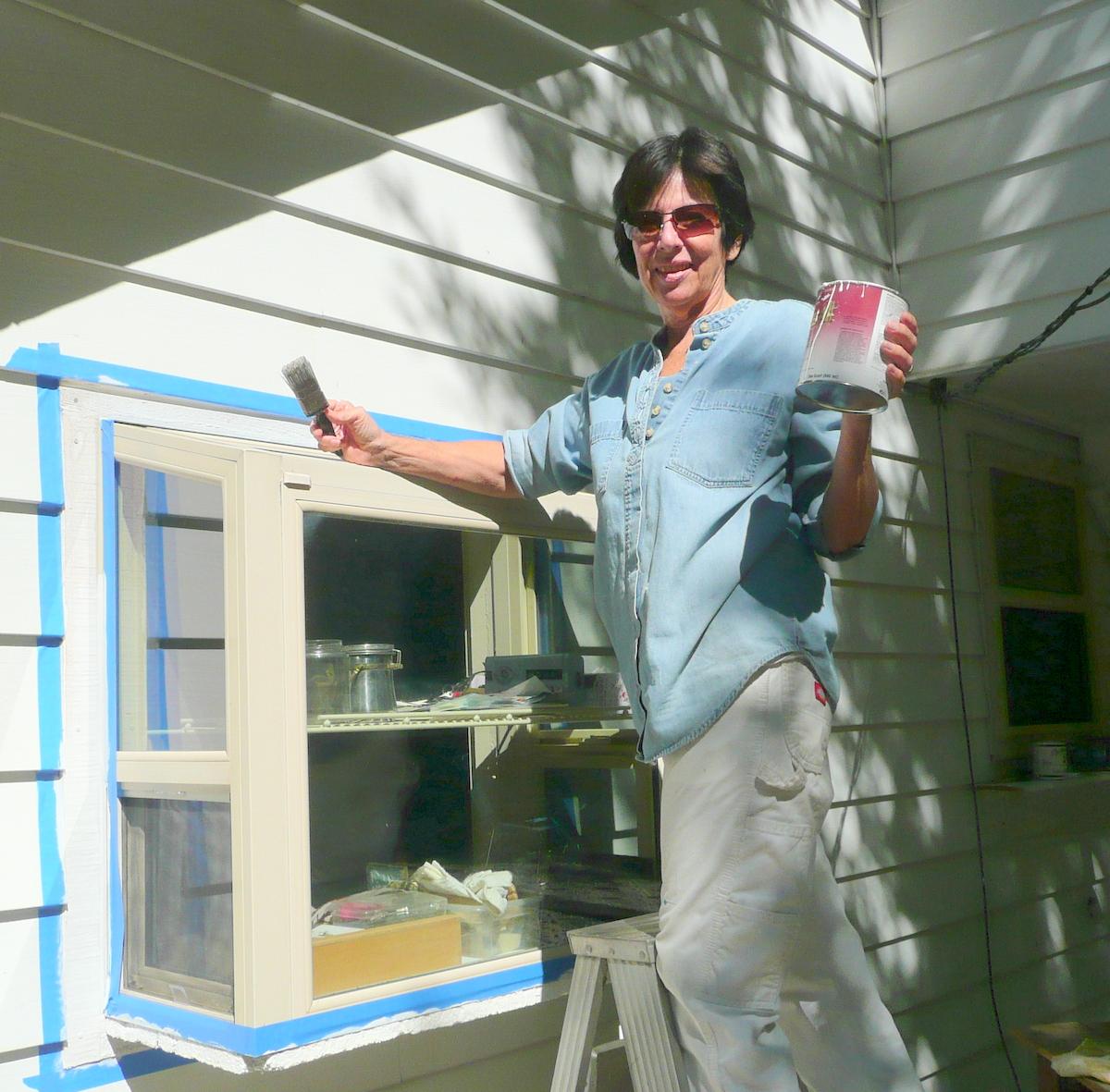 Cheryl paints