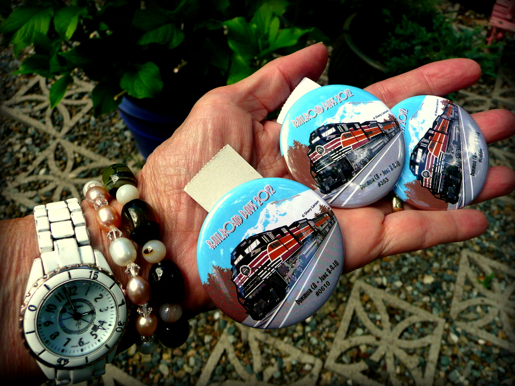 Railroad Days buttons