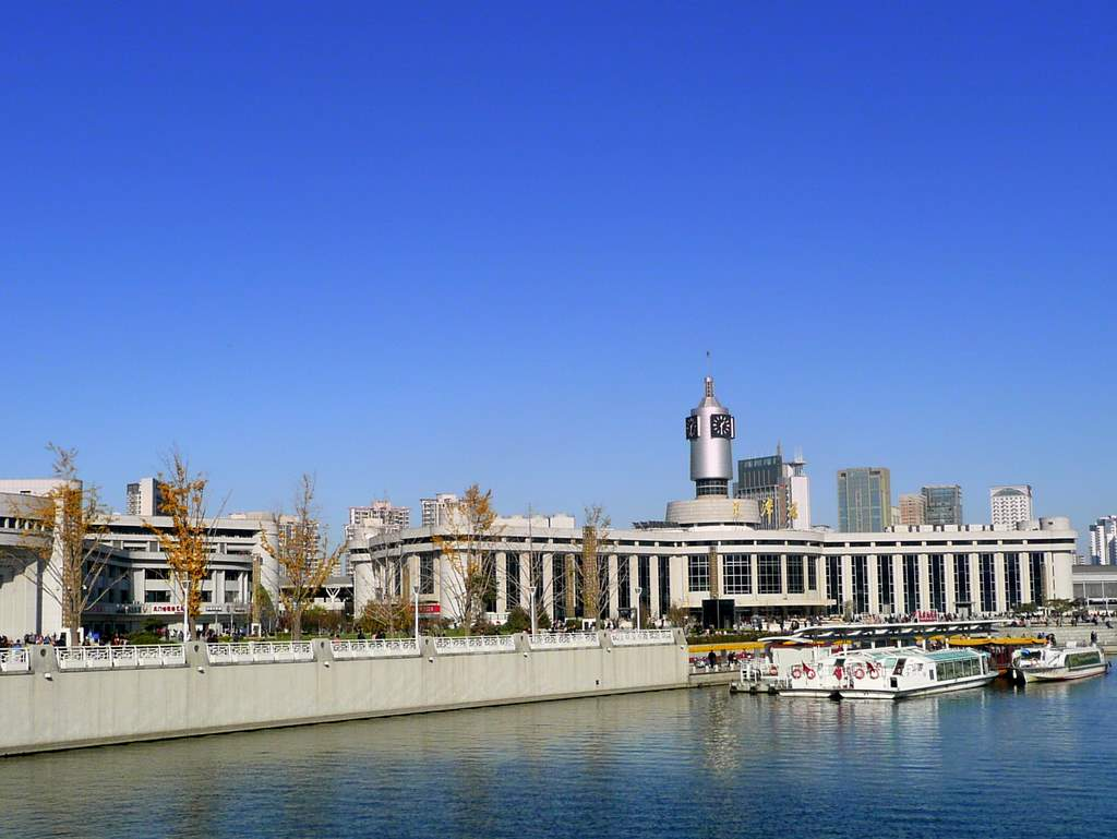 Tianjin RR station on the Hai river