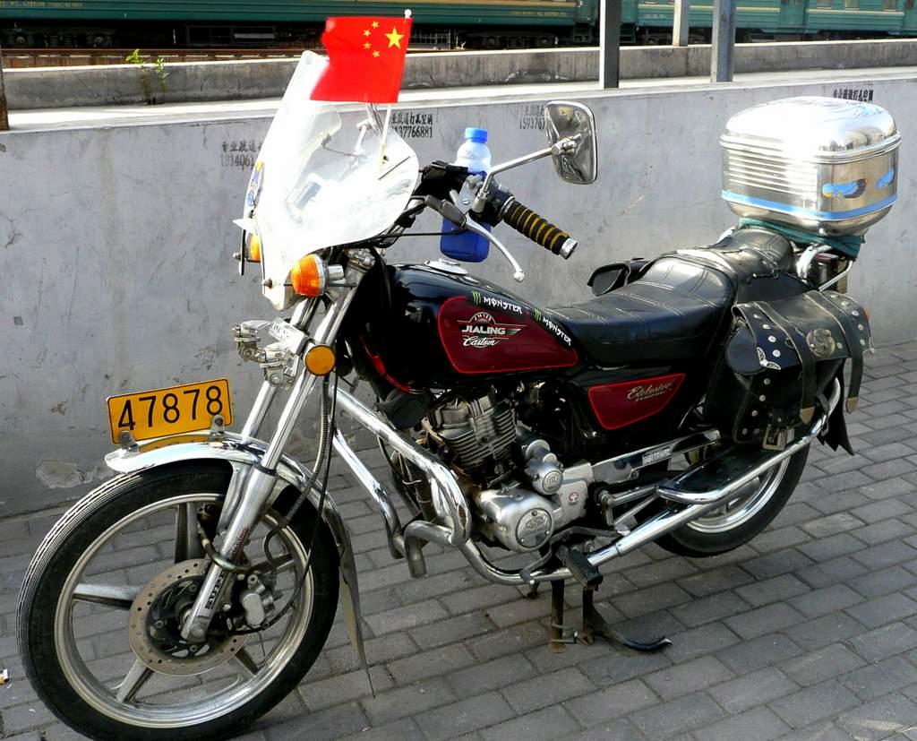 patriotic biker