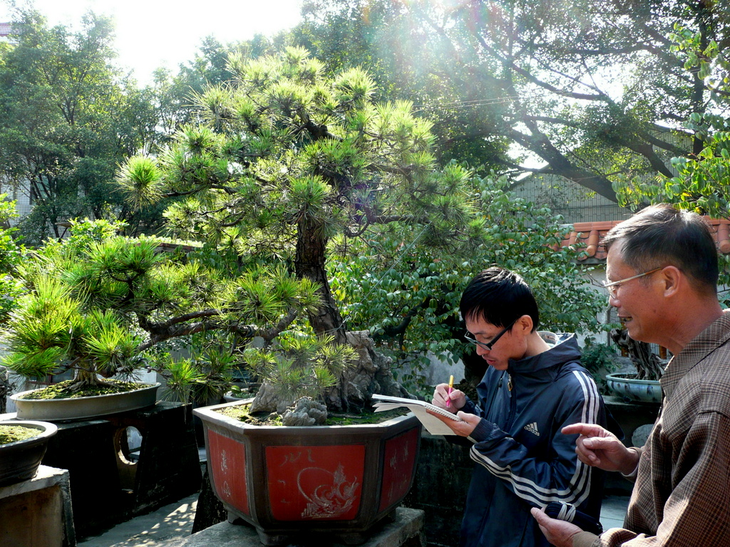Alan Feng and Master CHEN at Qing Wan Garden