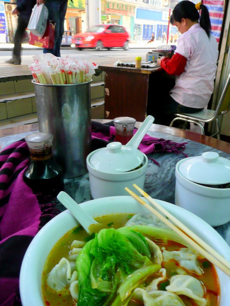 Dumplng soup