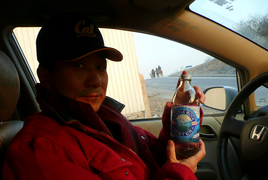 Mike and Castle Rock Spring Water bottled in Dunsmuir California