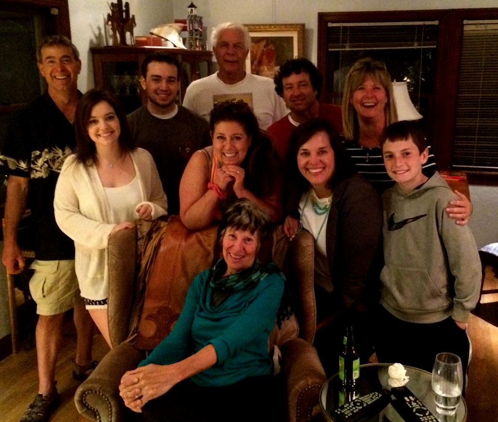 Back row: JP, Kyle, Bruce, Brian, Michele Middle row: Danielle, Trudy, Jeannine, Parker Front and center:  Cheryl