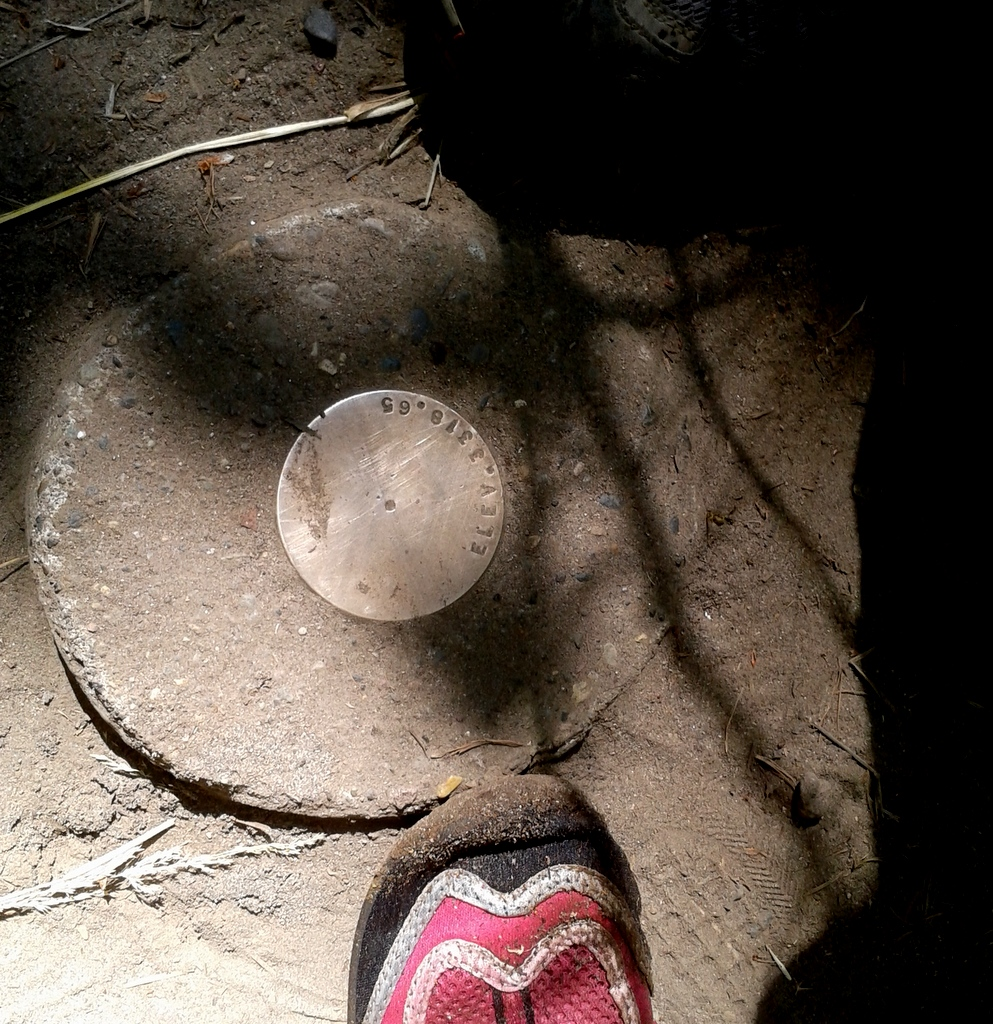 geodetic mark at Union Creek, OR